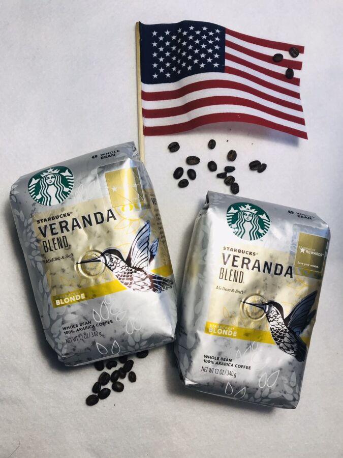 Зерновой кофе Starbucks Veranda Blend, кава старбакс зерно з США