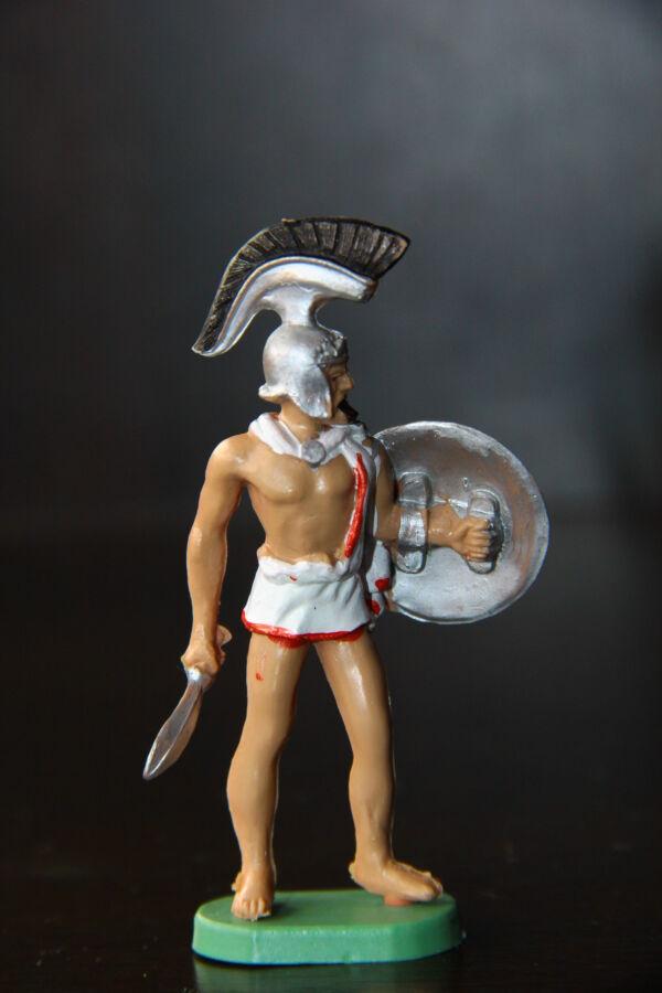 грек спартанец троянец BRITAINS 54мм РЕЗИНА-ПВХ ЛЮКС!!