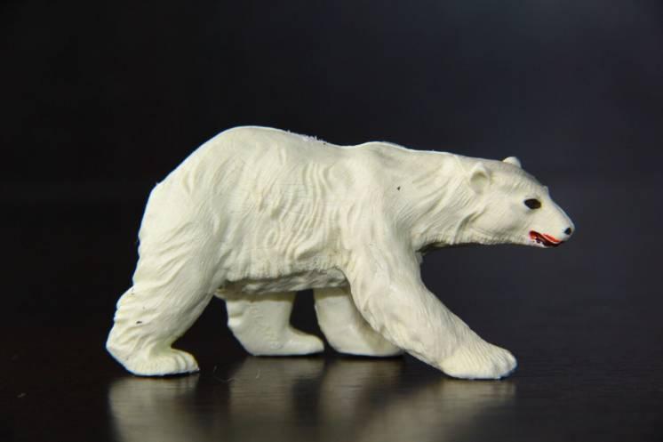 белый медведь животные BRITAINS АНГЛИЯ 54мм ЛЮКС!!