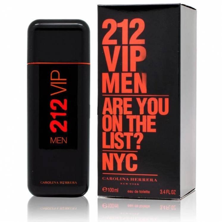 Carolina Herrera 212 VIP Men Are You on the List Black