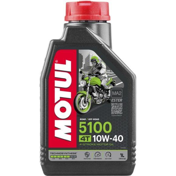 Мото масло MOTUL 5100 4T 10W40 (1L) Моторное масло для мотоцикла NEW