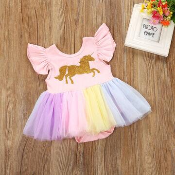 Боди для девочек с фатином розовый Детская Одежда Лето