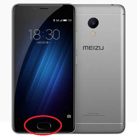 Кнопка Home домой сенсорная (Чёрная) для Meizu M3s mini