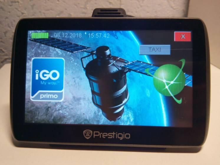 Prestigio Geovision 5000 навигатор с таксометром и новыми картами