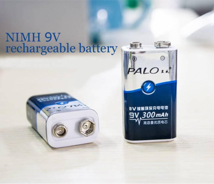 Аккумуляторы крона ,PALO , 9 вольт, 300 mAh