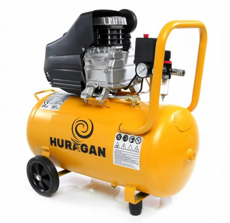 Компрессор воздушный HURAGAN 50 литров * Гарантия 12 месяцев