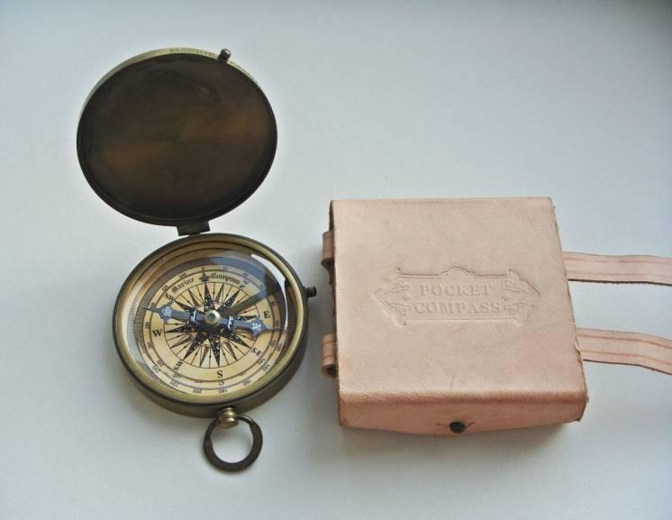 Латунный компас Dollond London. Новый