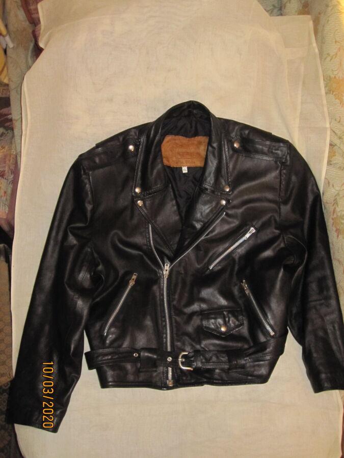 куртка мужская кожаная косуха GOLDEN FLEECE 52 р.
