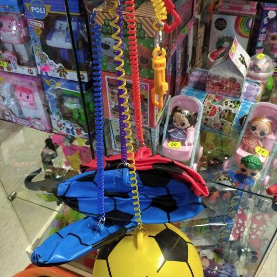 Мяч резиновый YW1896 (200шт) на шнуре 22сm, 70g, 4 цвета