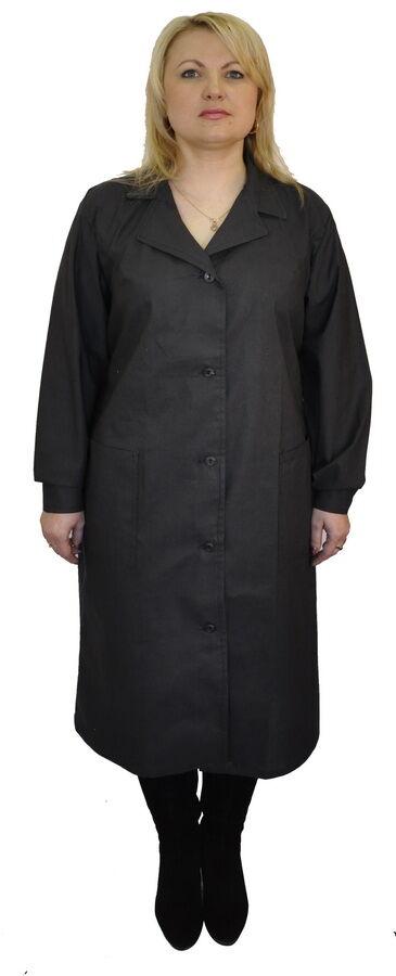 Женский рабочий халат черный