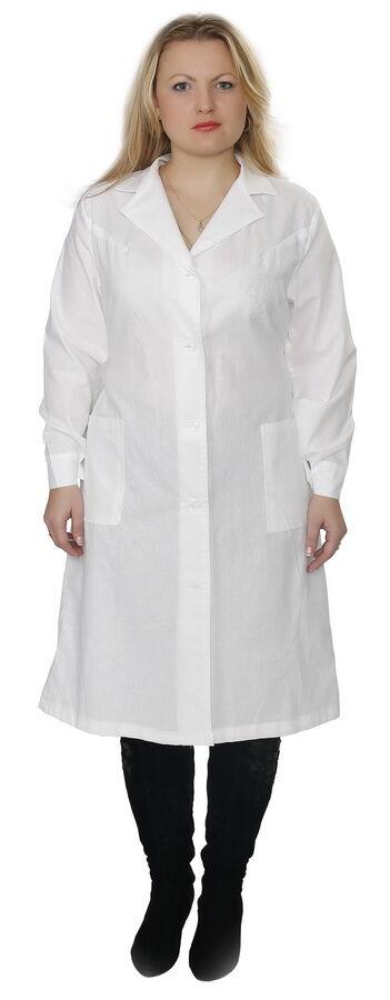 Женский рабочий белый халат