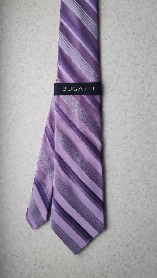 Новый шелковый галстук Bugatti (Made in Italy)