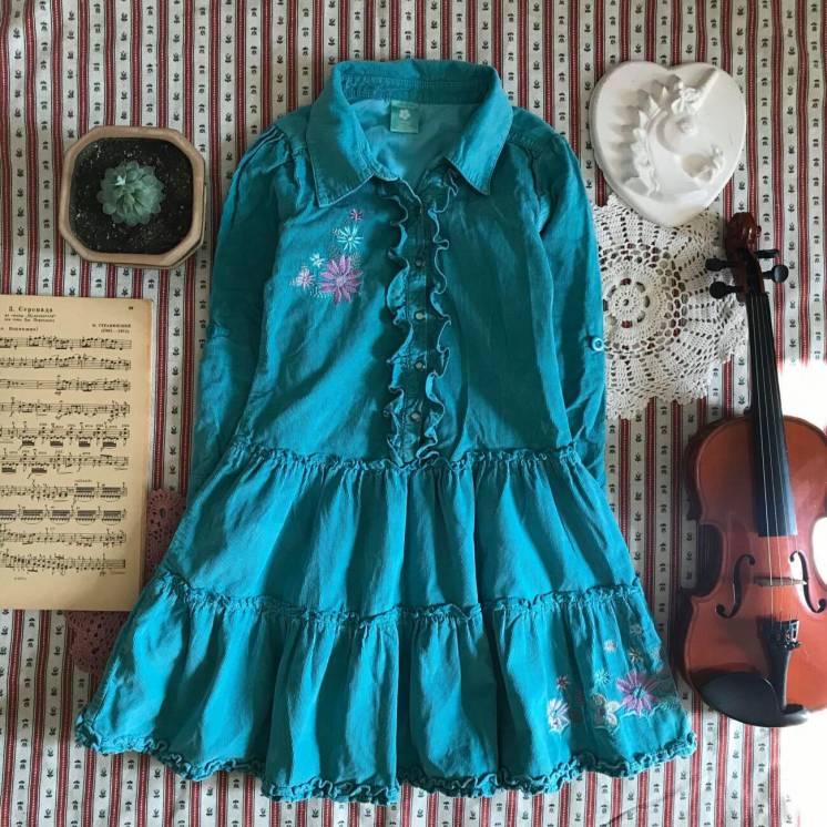 Яркое платье в стиле ретро винтаж Pumpkin Patch на 6 лет