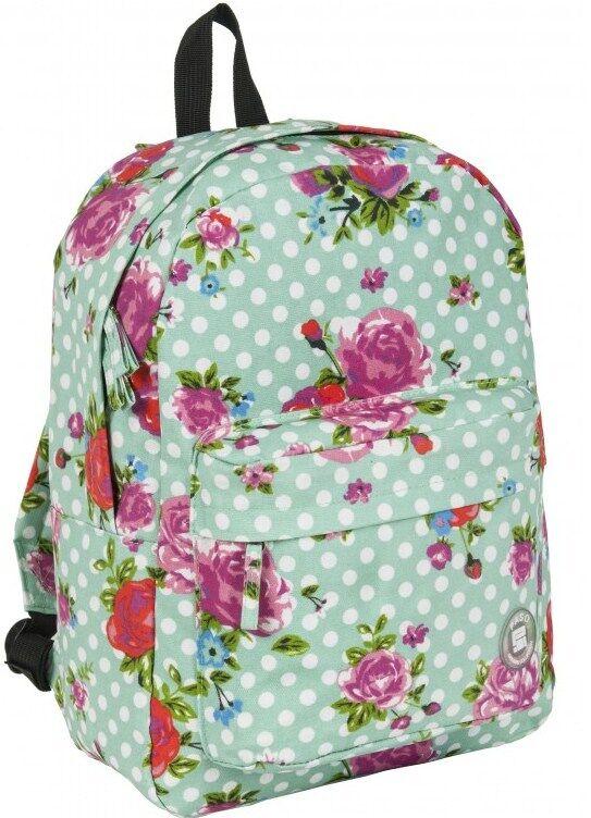 Легкий женский рюкзак с цветами 13L Paso 17-780M