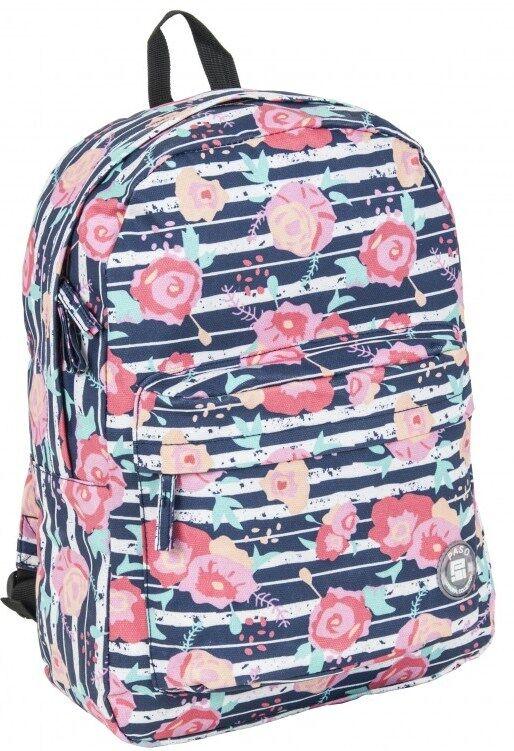 Рюкзак молодежный с цветами 13L Paso 17-780P