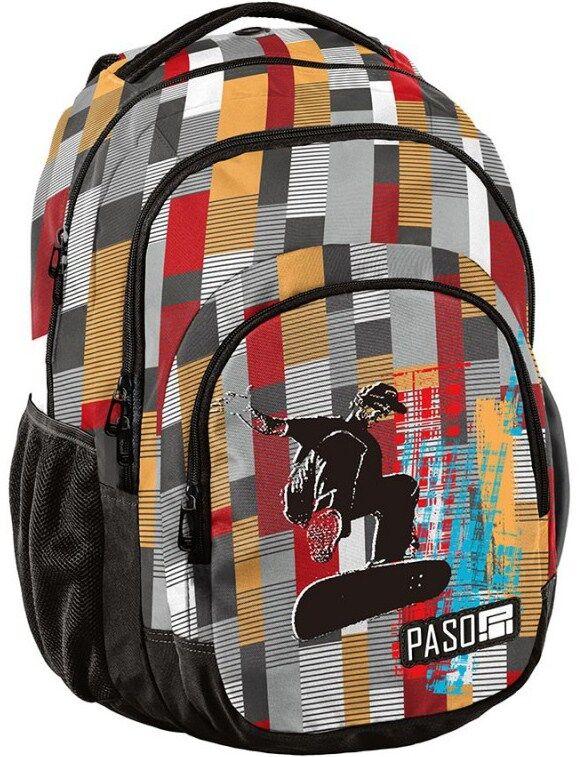 Городской рюкзак в клетку PASO 30L 18-2706KS