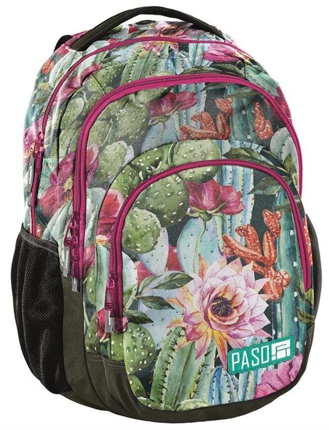 Женский рюкзак с яркими цветами PASO 30L 18-2706LO