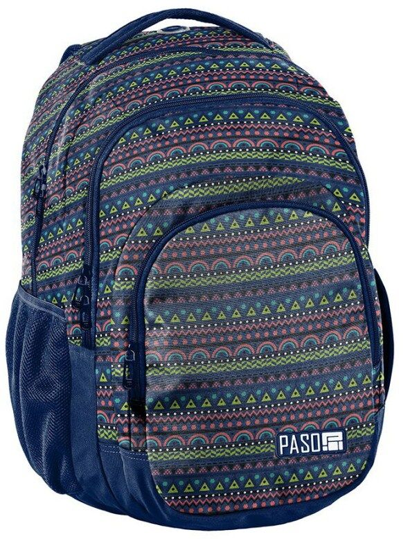 Рюкзак молодежный с узором PASO 30L 18-2706PC