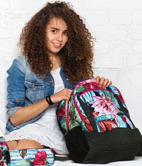 Рюкзак женский с цветами PASO 22L, 18-2808LO