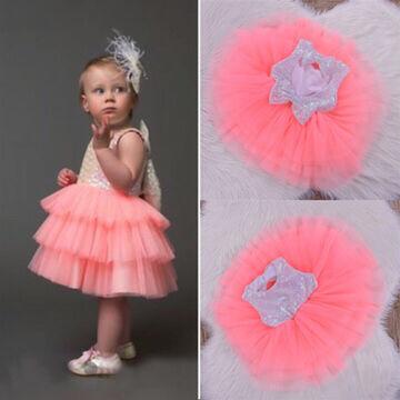 Детское Платье для Девочек Нарядное с Фатином и Пайетками