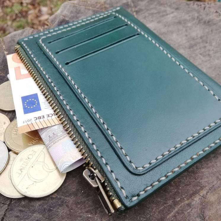 Оригинальный кожаный кошелек, отделения для карт снаружи.Ручная работа