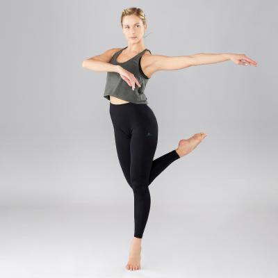 Лосины для танцев спорт фитнес черный
