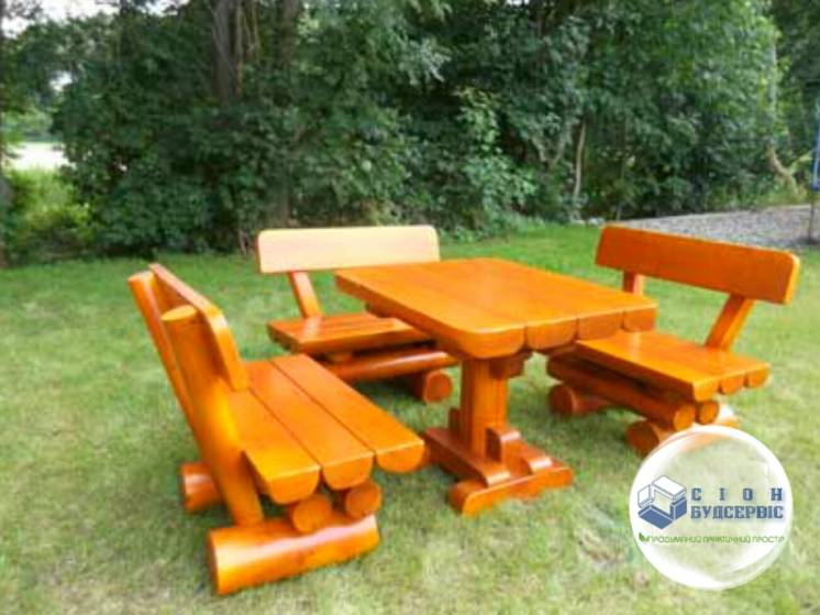 Мебель из дерева для сада