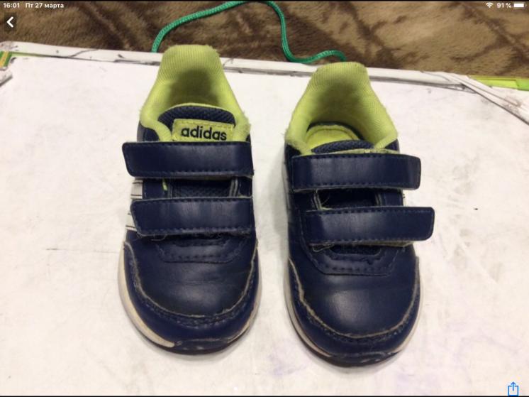 Кроссовки, туфли, кеды, мокасины adidas 22-23 размер, 14 см.