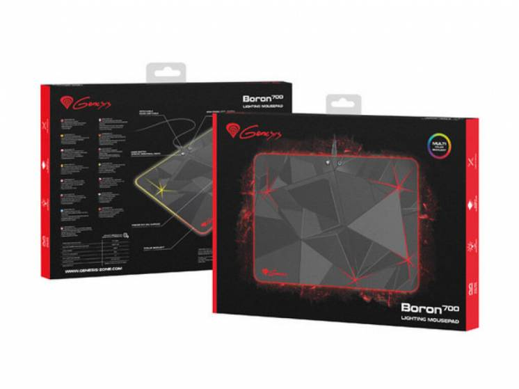 Ігрова поверхня Natec Genesis Boron 700 RGB M Black (NPG-0886)