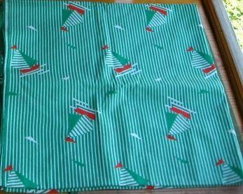 ткань ситец хлопок, речные кораблики детский принт, полоска, 3 м. торг