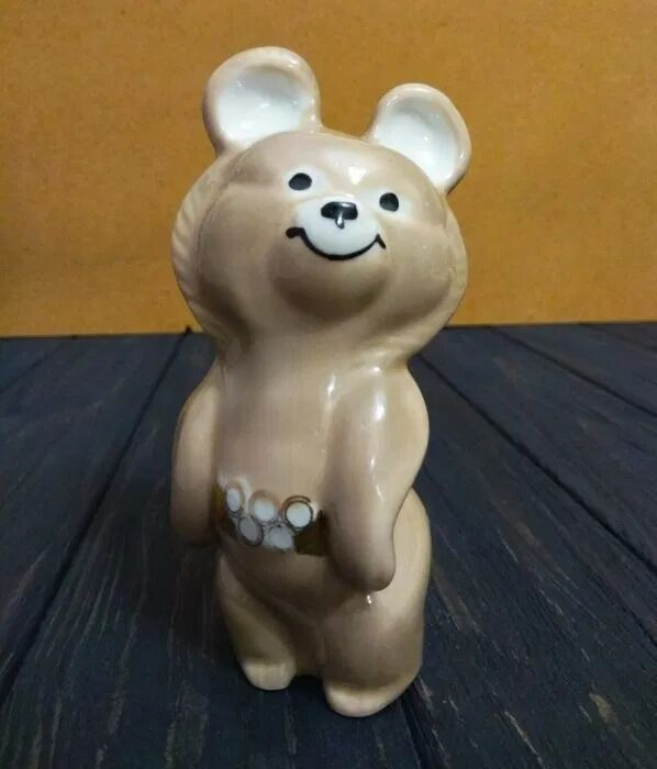 Мишка олимпийский СССР статуэтка №2