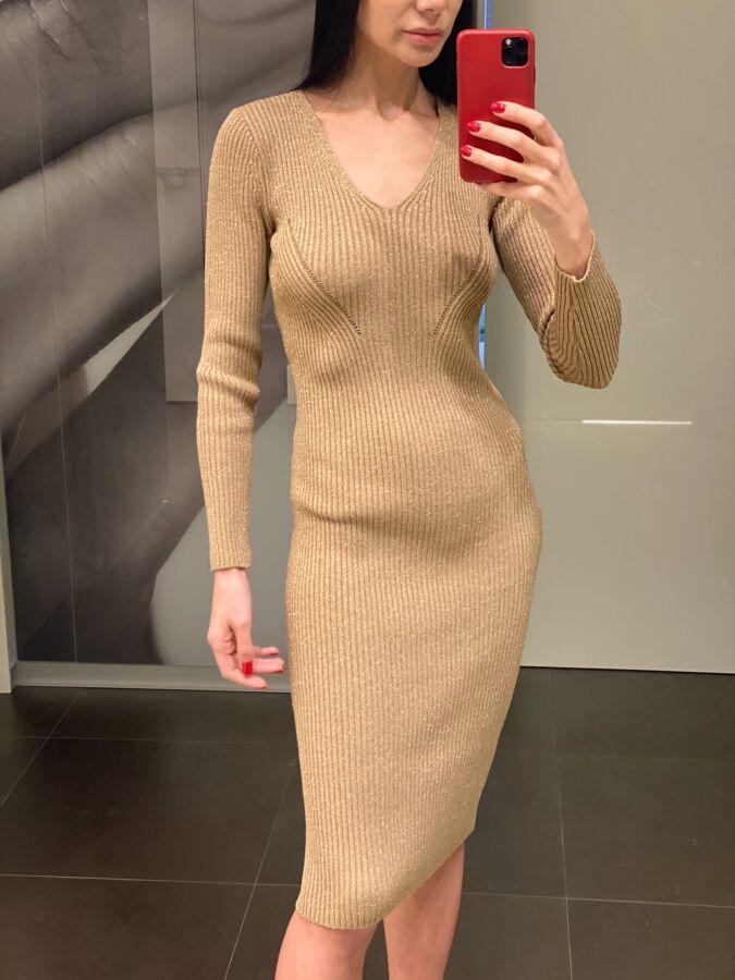 Трикотажное платье с люрексом Michael Kors, оригинал.
