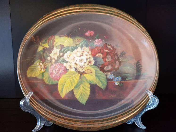 Продам датскую, декоративную, коллекционную, номерную тарелку с цветам
