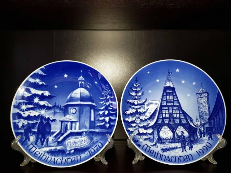 Продам кобальтовые, немецкие, Рождественские, фарфоровые, настенные та