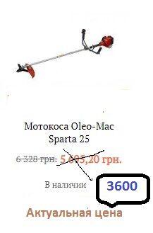Итальянская мотокоса Спарта 25
