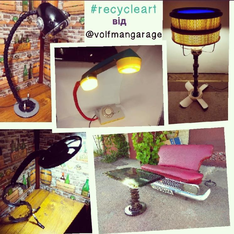 Эксклюзив подарок кастом мебель лампа декор стол из автозапчастей лофт