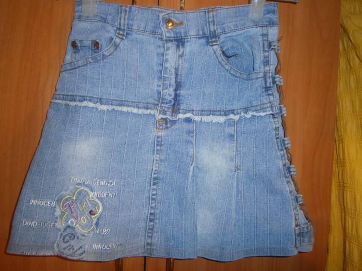 Юбка джинс. стрейч. в поясе п\о-30 см.