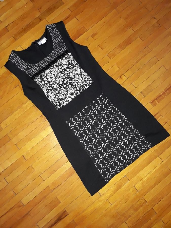 Плаття Heine сукня квітковий принт чорне біле платье