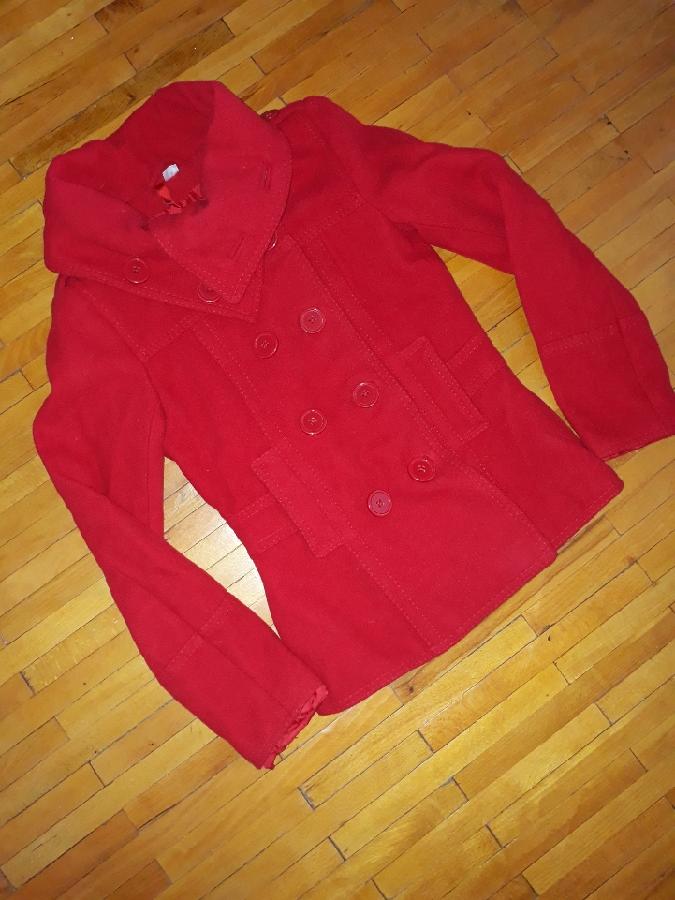 Пальто куртка H&M Divided червона піджак