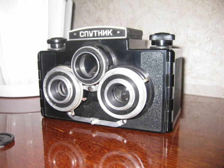 Продам пленочный фотоаппарат СПУТНИК - стерео (раритет) в хорошем сост