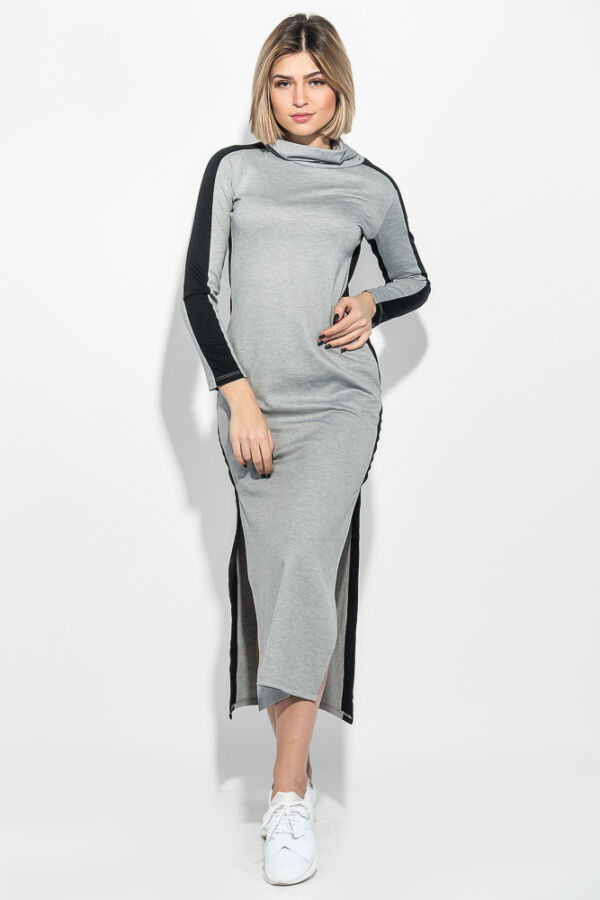 Платье женское миди серый XS,S,M,L.