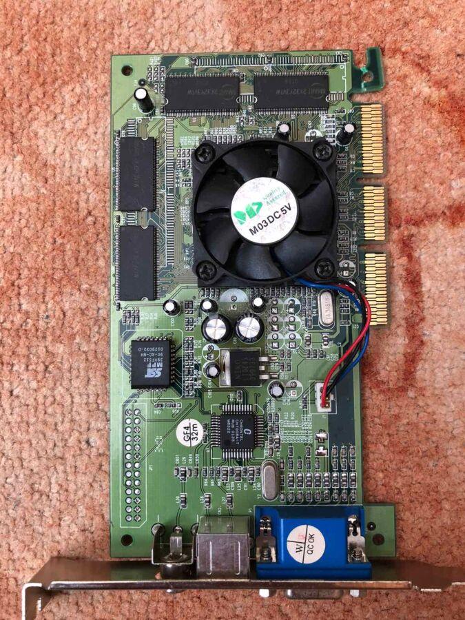 видеокарта NVIDIA GeForce 2 MX 400 w/TV 32MB