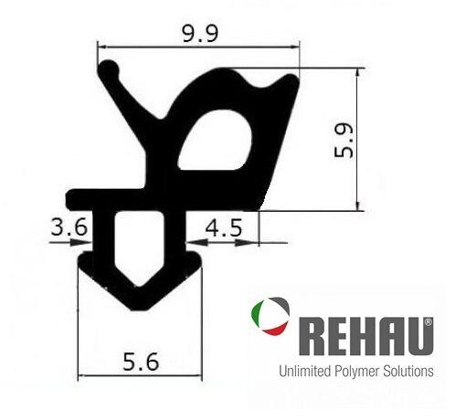 Уплотнитель для окон Rehau под стекло, чёрный.