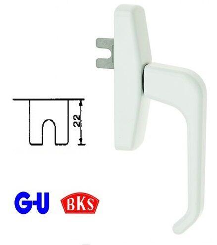 Ручка для алюминиевого окна G-u белая, штифт 1х22 мм.