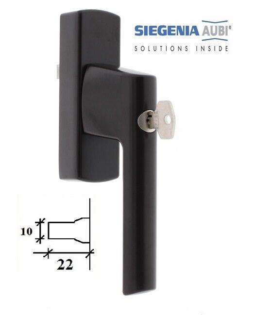 Ручка для алюминиевого окна SI-Line с ключом, коричневая.