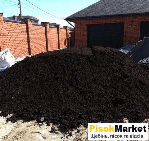 Чорнозем грунт для саду Луцьк купити PisokMarket