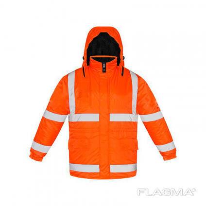 Куртка утепленная сигнальная, оранжевого цвета с СОП
