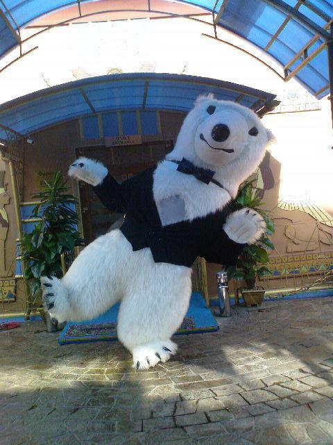 White Bear Costume Inflatable Пневмокостюм белого медведя