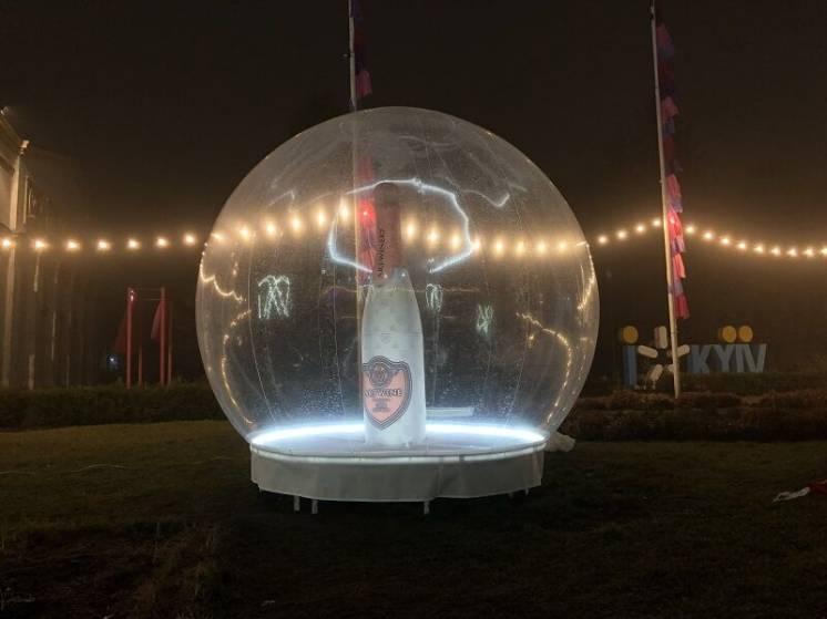 Advertising inflatable sphere Надувные сферы наружной рекламы