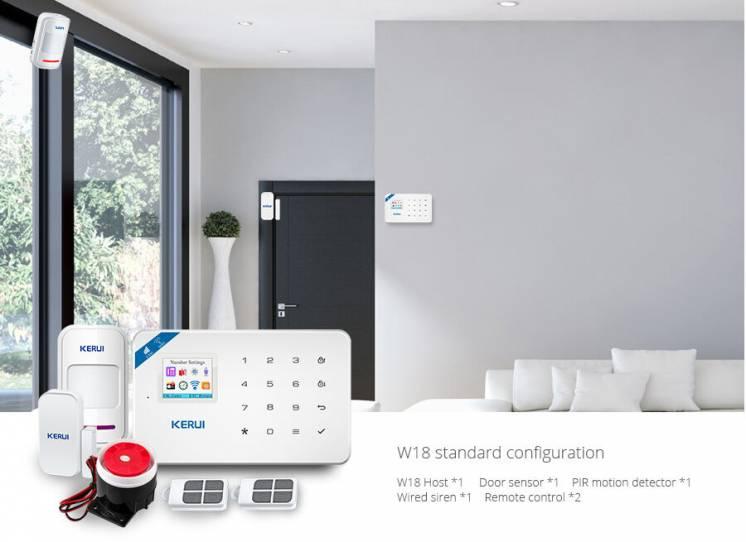 Комплект сигнализации Kerui W18 Wi-Fi GSM